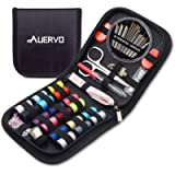 Travel Sewing Kit, AUERVO Over 70 DIY Premium Sewing Supplies,Mini Sewing kit for Home, Travel & Emergency Filled with…