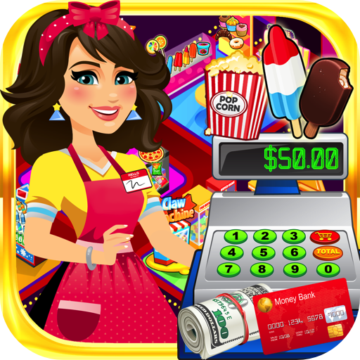 shier: Kids Shopping Games & Cash Register Simulator FREE (Halloween Popcorn Bar)