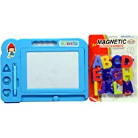 Rahi India Magic Slate for Kids Pen Doodle pad erasable Drawing Magnetic Painting Sketch pad with Magnetic Alphabet