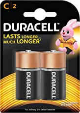 Duracell Alkaline C Battery, with Duralock Technology - 2 Pieces