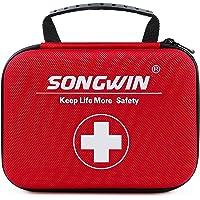 Songwin Trousse de Premier Secours, Etanche Mini Trousse de Secours-Comprend Une Couverture d'urgence,Bandage,Ciseaux…