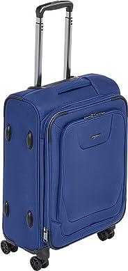 AmazonBasics - Premium-Weichschalen-Trolley mit TSA-Schloss, erweiterbar, 53 cm, Blau