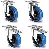 1 set Blue Wheels zwenkwielen 100 mm stuur/FS