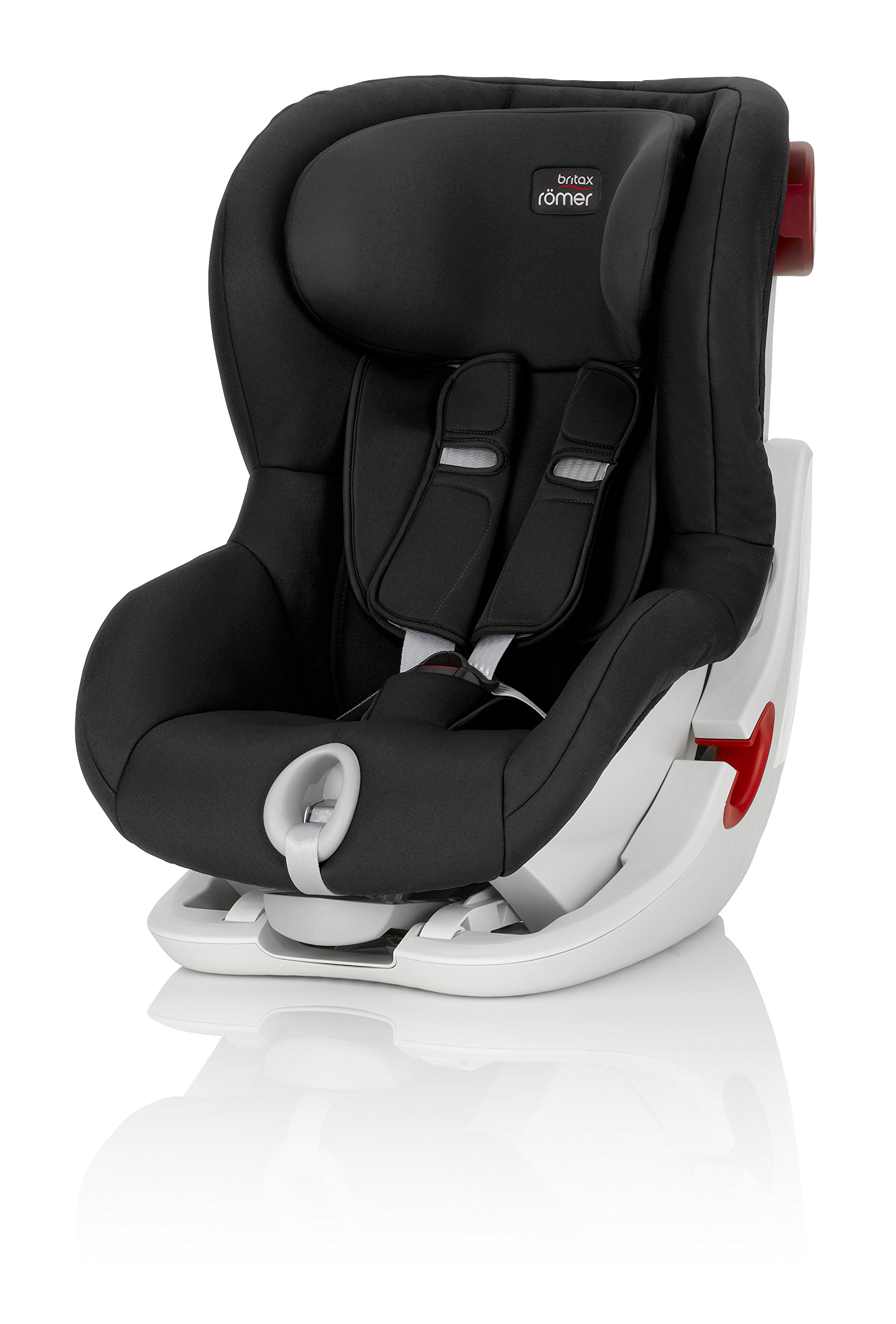 Britax Römer KING II Group 1 (9-18kg) Car Seat - Cosmos Black Britax Römer Easy installation - with tilting seat and patented seat belt tensioning system Optimum protection - performance chest pads, deep, padded side 1