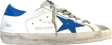 Golden Goose Sneakers Uomo Vintage Superstar G35MS590.Q23 Bianco-Blu