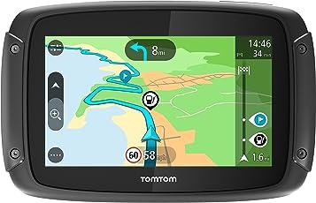 Tomtom Rider 420 Motorrad-Navi (4,3 Zoll, mit kurvigen und bergigen Strecken Speziell für Motorrüder, Karten-Updates, Europa 48 Lünder, Tomtom Traffic und Radarkameras, Freisprechen)