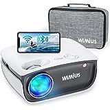 """Proiettore WiFi, WiMiUS S25 Bleutooth mini 5800 LED LCD Videoproiettore, Nativa 720P Home Cinema 200"""", Full HD 1080P Supporto"""