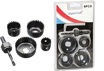 DigitalCraft GJHYGHJ2 6Pc Hole Saw Set Drill Bit Cutting Cutter Round Circular 32Mm/38Mm/51Mm/54Mm New