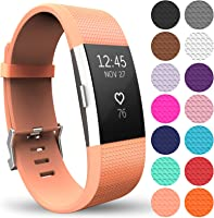 Yousave Accessories Replacement Strap for FitBit Charge 2, Silicone Sport Wristband for the FitBit Charge 2 - Available...