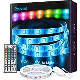 Govee LED Striscia, 5m RGB con 44 Tasti Telecomando IR, 20 Colori 6 Modalità, Luci Colorate per Decorazioni, Cucina, Bar…