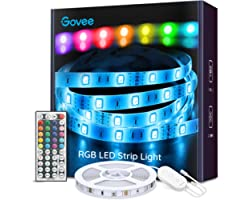 Govee Ruban à LED 5m Bande LED RGB Multicolores Améliorée Lumineuse avec Télécommande Décoration d'Armoire pour Maison Chambr