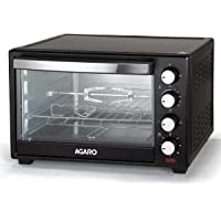 Agaro Marvel Series 48 Litre Oven Toaster Griller with Rotisserie (Black)