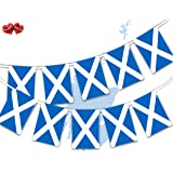 Party Decor Scotland Full Flag Patriotic Themed Bunting Banner 12 Rectangular flags for guaranteed simply stylish party Natio