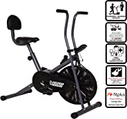 Fitkit FK500 Steel Airbike with Free 3 Month Diet and Fitness Plan by certified Dietitian , Personal Trainer , Doctor Consult