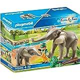 Playmobil 70324 Family Fun Olifanten In De Vrije Natuur, Vanaf 4 Jaar, Meerkleurig, 18 x 7,5 x 8,5 cm