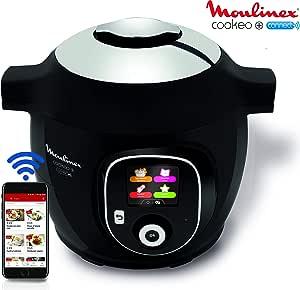 Moulinex Multicuiseur Intelligent Cookeo+ Connect via Application Bluetooth 6L 6 Modes de Cuisson 150 Recettes Préprogrammées Jusqu'à 6 Personnes Noir YY2942FB