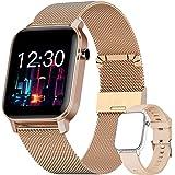 YUNFUN Smartwatch Mujer Reloj Inteligente Impermeable IP68 con Monitor de Sueño Pulsómetros Cronómetros Contador de Caloría,