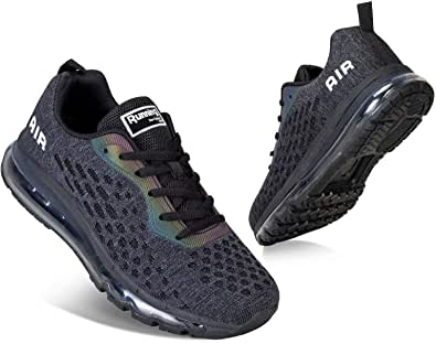 Men Women Running Shoes Air Cushion Sports Trainers Breathable Lightweight Sneakers for Walking Gym Jogging Fitness Athletic Casual