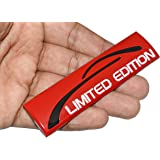 Incognito-7 Metal 3D Limited Edition Logo Car Bike Sticker, Red