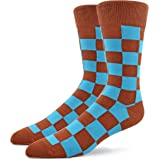 A PATRON SOCKS - Calcetines para hombre, multicolor, con patrón, calcetines estampados, calcetines divertidos, calcetines mul