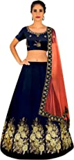 Shree Impex Embroidered Lehenga Choli and Dupatta Set (Free size_Purple)