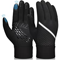 Winter Warm Cycling Gloves Windproof - Running Thermal Sports Glove Touch Screen Anti-slip Silicone Outdoor with…