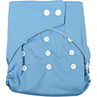 Baby Station Waterproof Reusable Adjustable Swim Diaper One Size Nappy 0-24 Months (Blue)