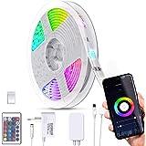 B.K.Licht I Smart LED Stripe 5 Meter I WiFi LED Band I App bestuurbaar I Stembesturing I Incl. afstandsbediening I Silicone g