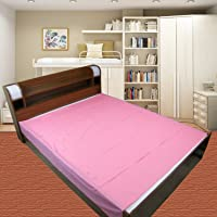 Goodluck Baby Waterproof Plastic Sheet Double Bed Mattress Protection (7.5 x 6.5 ft, Pink)