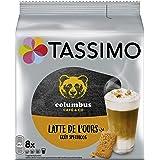 Tassimo Café Dosettes - 40 boissons Columbus Latte de l'Ours goût Speculoos (lot de 5 x 8 boissons)