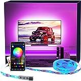 LED TV Hintergrundbeleuchtung APP, MY LAMP 2.5M LED Strip USB Bluetooth TV LED Licht für 40-60 Inch RGB 5050 APP Control Sync