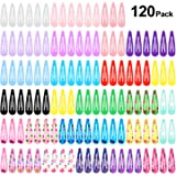 120pcs Mollette per Capelli Colorati, PAMIYO Fermagli per Capelli in Metal Multicolore Carini Clips per Bambina Bambini