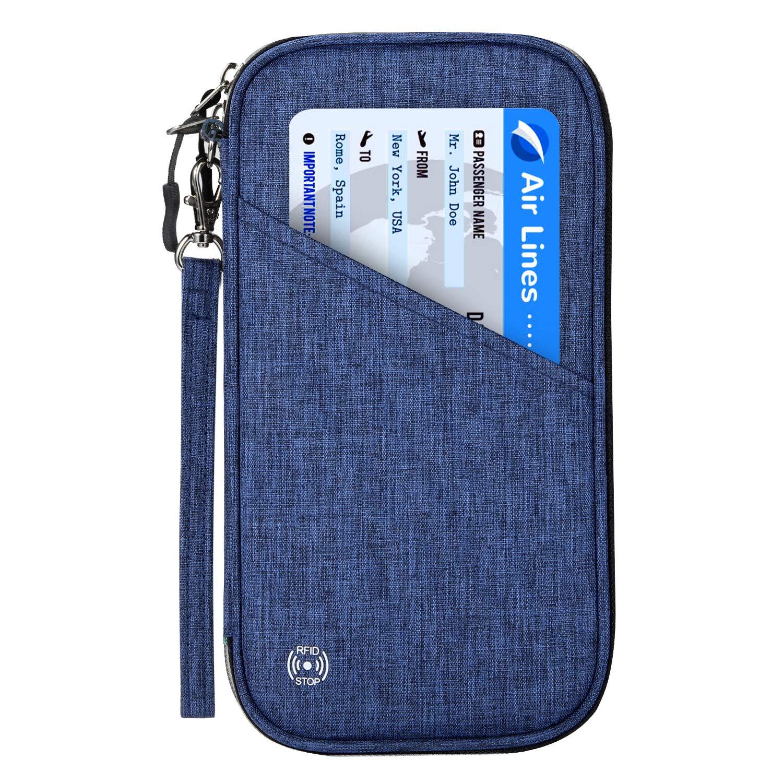 Portefeuille De Voyage avec Blocage RFID Et Portefeuille De Passeport Familial Noir