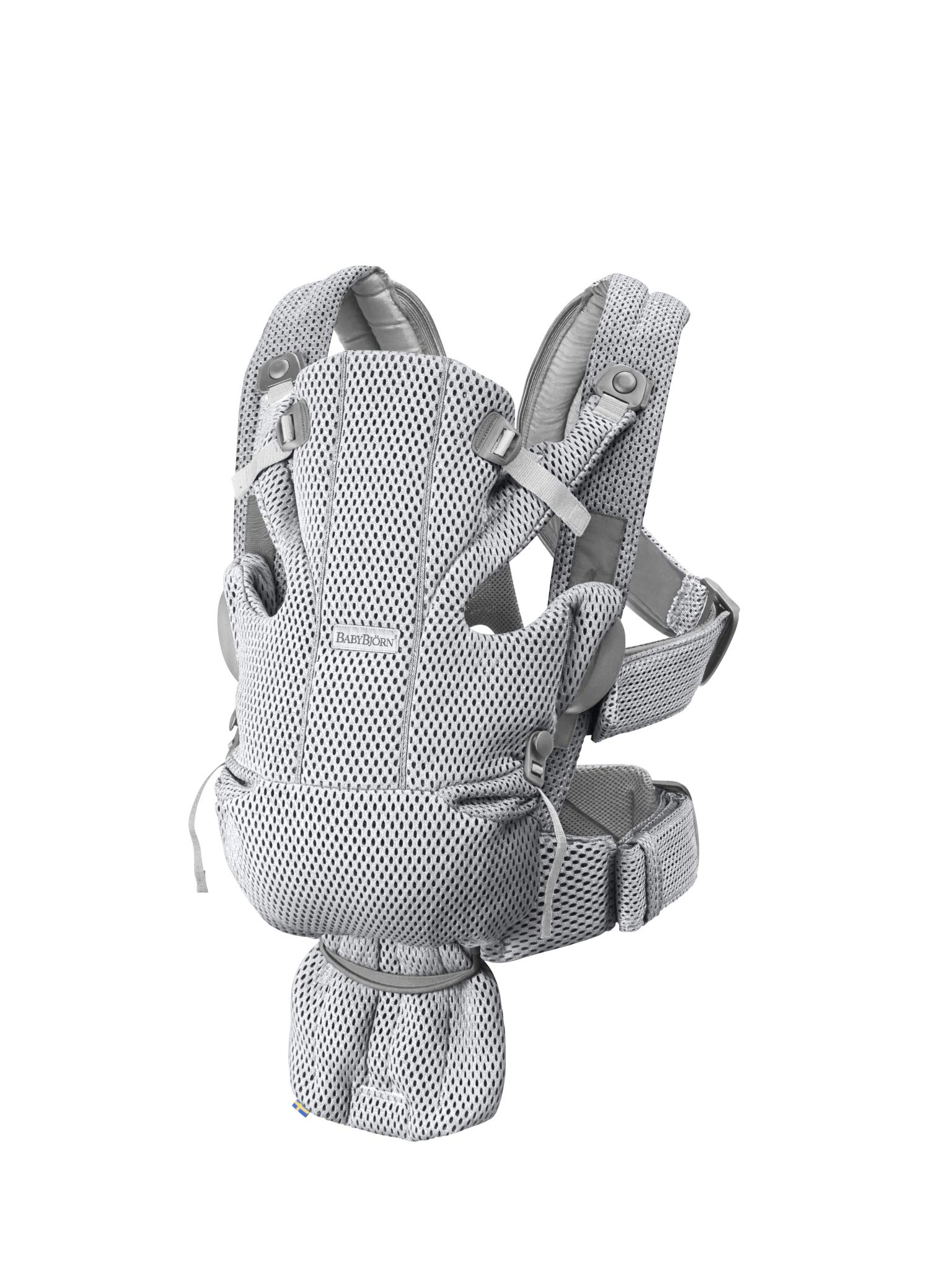 BABYBJÖRN Baby Carrier Move, 3D Mesh, Grey Baby Bjorn Excellent comfort with built-in back support and waist belt Easy to put on and take off Soft and airy design in cool 3D mesh 2