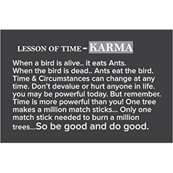 Love St Karma Life Quotes Poster For Home And Office Amazon In