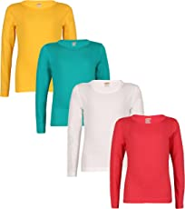Sinimini Girls Plain Full Sleeve 4pcs Combo top