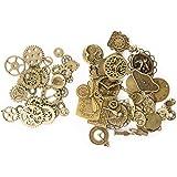 KIMI-HOSI 100g Vintage Steampunk Engrenages Metal Gears Horloge Montre Roues Pendentif Charms Gears Bijoux de Bricolage pour