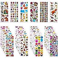 Habett 3D Aufkleber für Kinder & Kleinkinder, 920+ Geschwollen Stickers, Niedliche Verschiedene Set Buchstab en, Tier…
