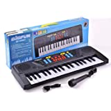 Generic Electronic Piano Keyboard with 37 Keys and Microphone (Black)