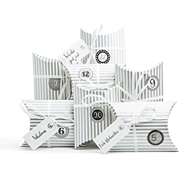 24 kleine Boxen | Adventskalender Schachteln