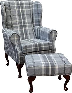 Sherlock Chair Tweedy Check Lawson Mid Natural: Amazon.co