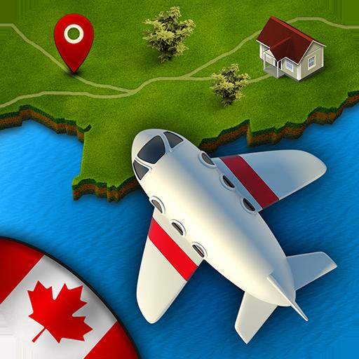 GeoFlug Kanada: Spaß am Lernen der Kanadischer Geografie (Kanada Leichter)