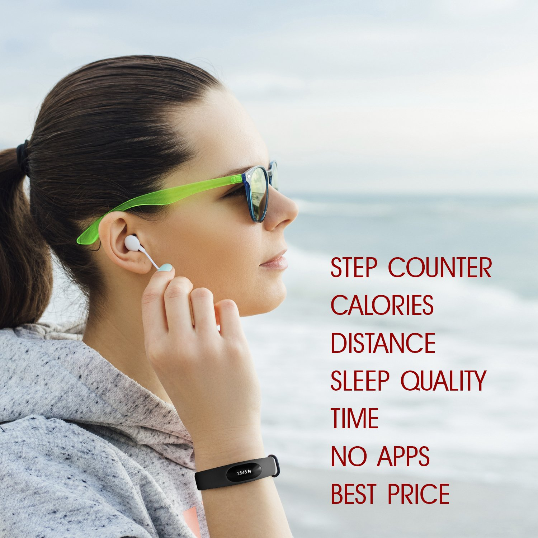 Nakosite Mimi2433 Schrittzähler Armband Aktivitätstracker Uhr Ohne