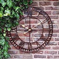Westminster Large Outdoor Garden Wall Clock Giant Open Face Big Roman Numerals 80CM