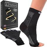 Chaussettes de compression pour aponévrosite plantaire (2 paires de chaussettes par paquet) compression graduée Hi-Tech 7 - Un soutien parfait pour les hommes et les femmes. Tissu respirant