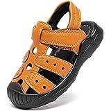 BODATU Niños Niños Zapatos deportivos al aire libre Sandalias Sandalias de verano de cuero con punta cerrada