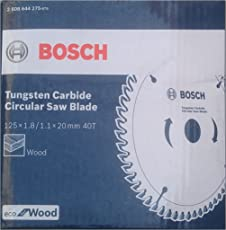 Bosch 2608644275 TCT Wood Circular Saw Blade, 125 x 20, 40 Teeth, Eco Series