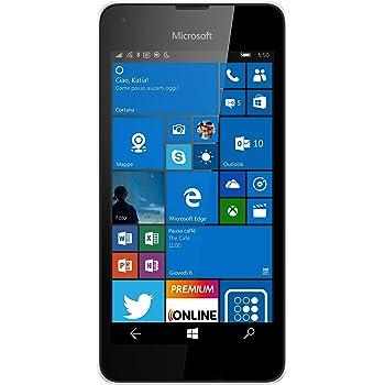 Microsoft Lumia 550 Smartphone LTE, Display 4.7' Pollici HD LCD (1280x720), 8 GB Memoria interna, Processore Quad Core Snapdragon 210, Bianco [Italia]