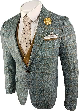 Men's Suit 3 Piece Blazer Jacket Vest & Trousers