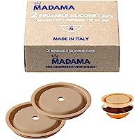 Madama - Bouchon réutilisable pour les capsules Nespresso Vertuo et VertuoLine, rechargeable et compatible. Silicone de…